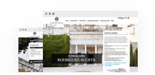 Sitio web de la Fundación Rodríguez Acosta