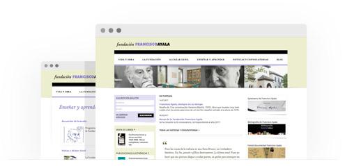 Sitio web de la Fundacion Francisco Ayala