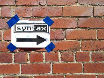 sintaxis complicada