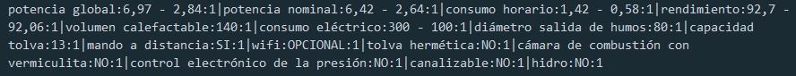 sintaxis importación de características