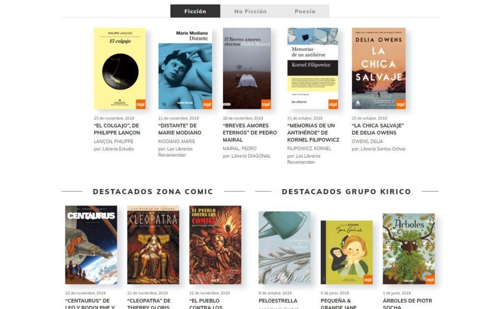 Web de Las Librerías Recomiendan