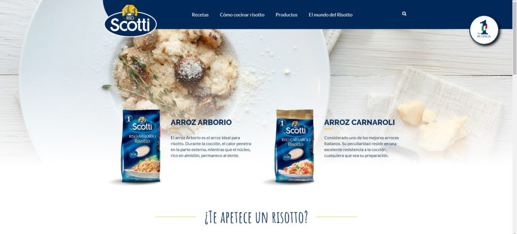 Nueva web de Riso Scotti