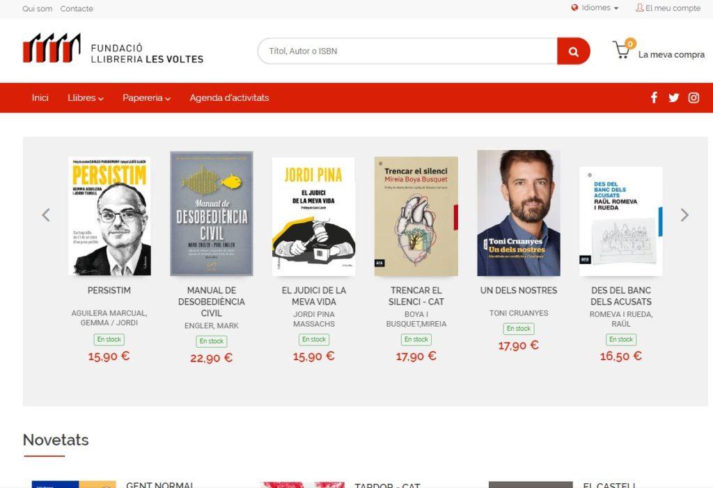 Nueva web de Librería Les Voltes