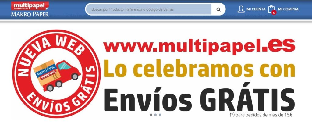 Nueva web de Multipapel