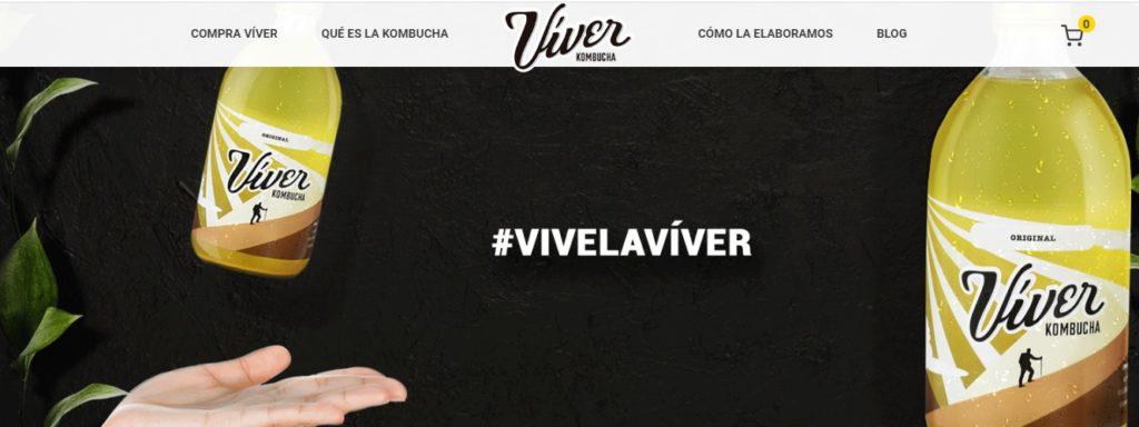 Nueva web de Víver Kombucha
