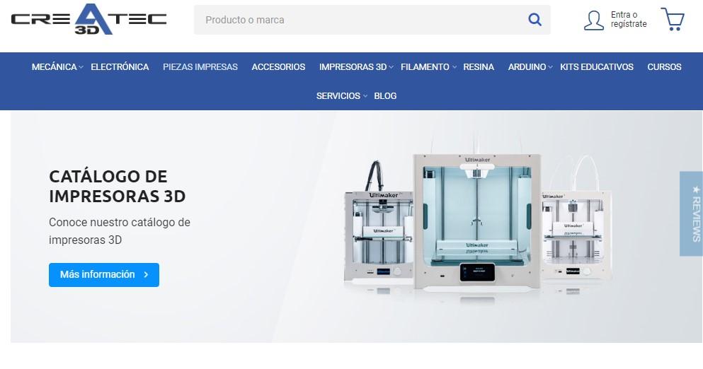 Nueva web de Createc 3D