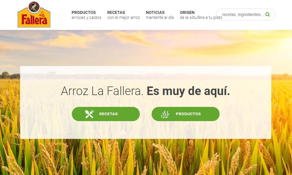 Nueva web de Arroz La Fallera