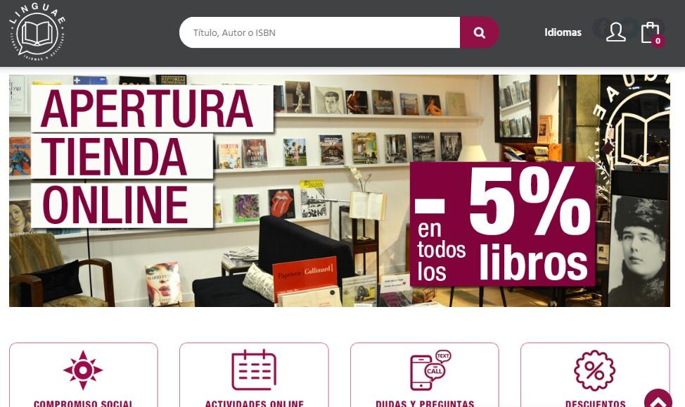 Nueva web de Linguae Llibreria