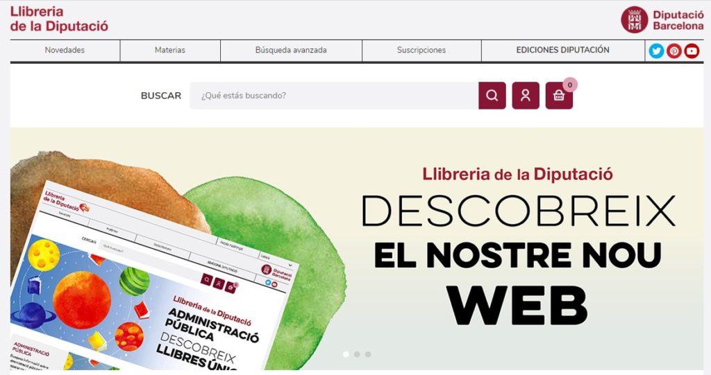 Nueva web de la Librería de la Diputación de Barcelona