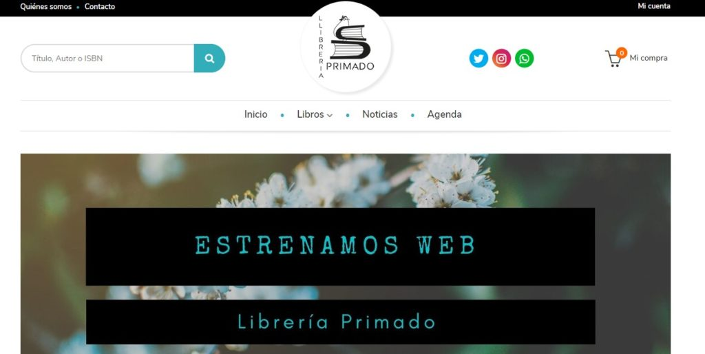 Nueva web de Librería Primado