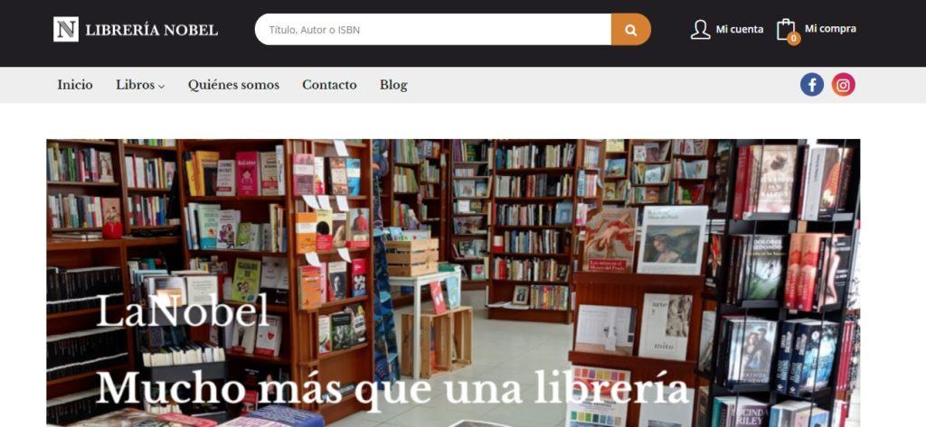 Nueva web de la Librería Nobel de Almería