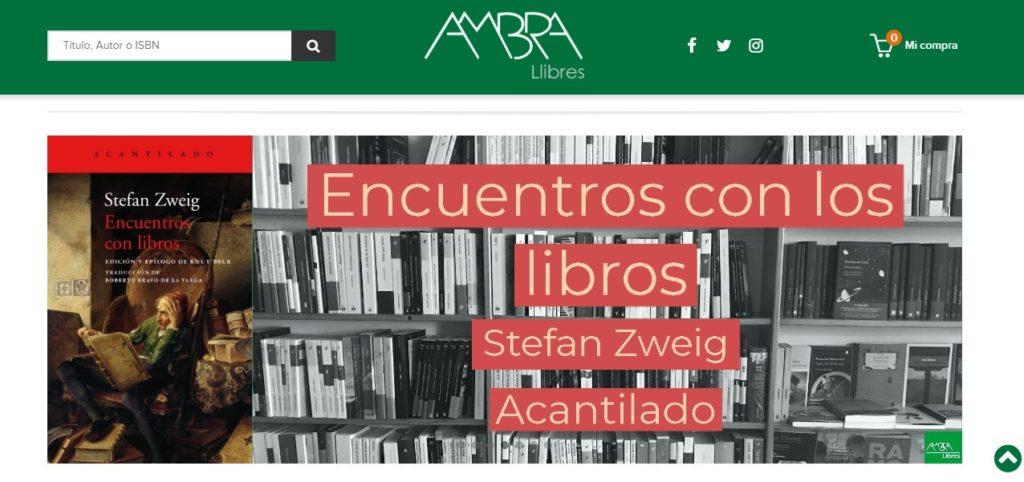Nueva web de Ambra Llibres