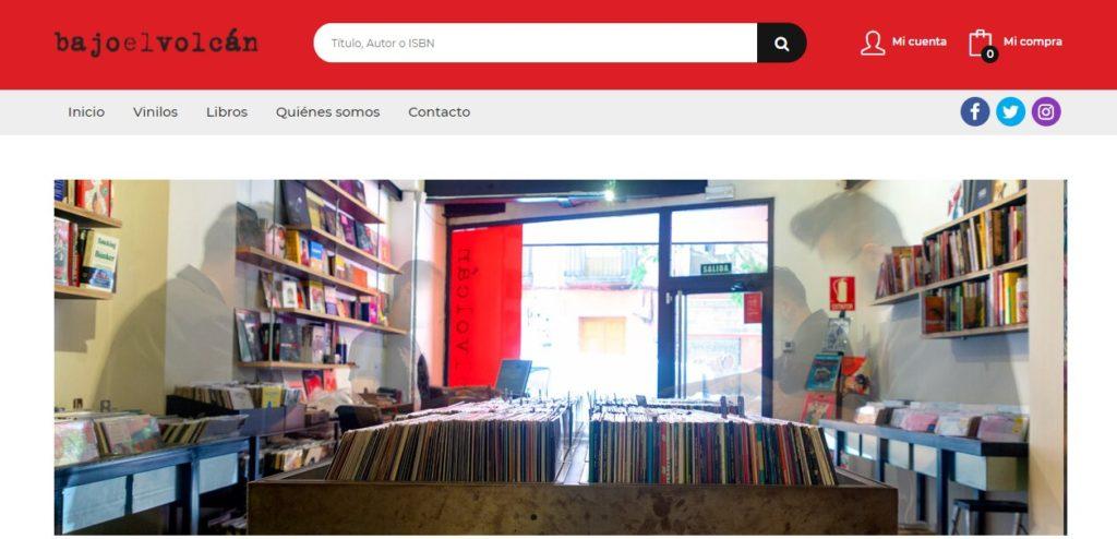 Nueva web de la librería 'Bajo el volcán'