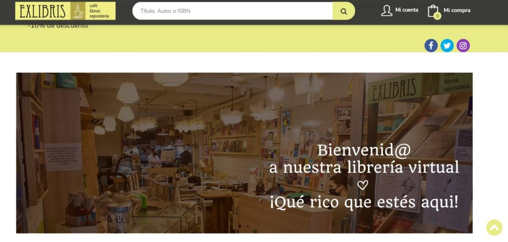 Nueva web de la librería Exlibris