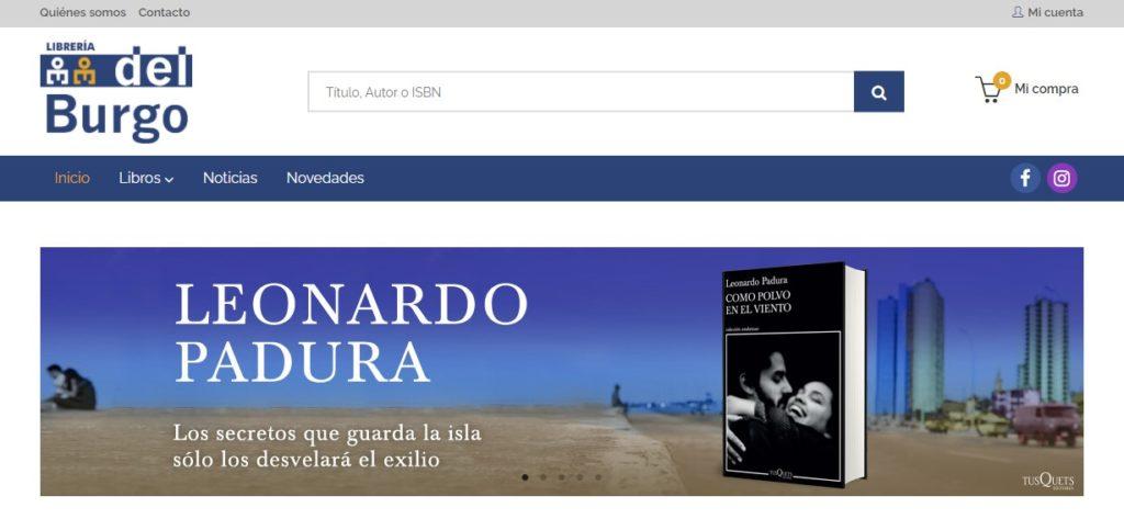 Nueva web de Librería del Burgo
