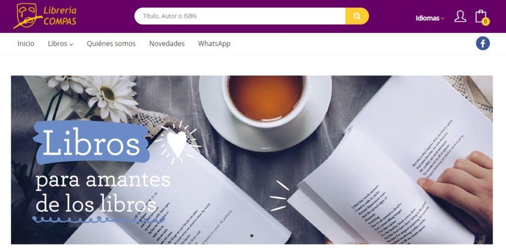 Nueva web de la Librería Compás