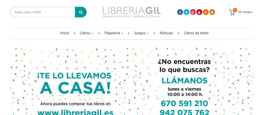 Nueva web de la Librería Gil
