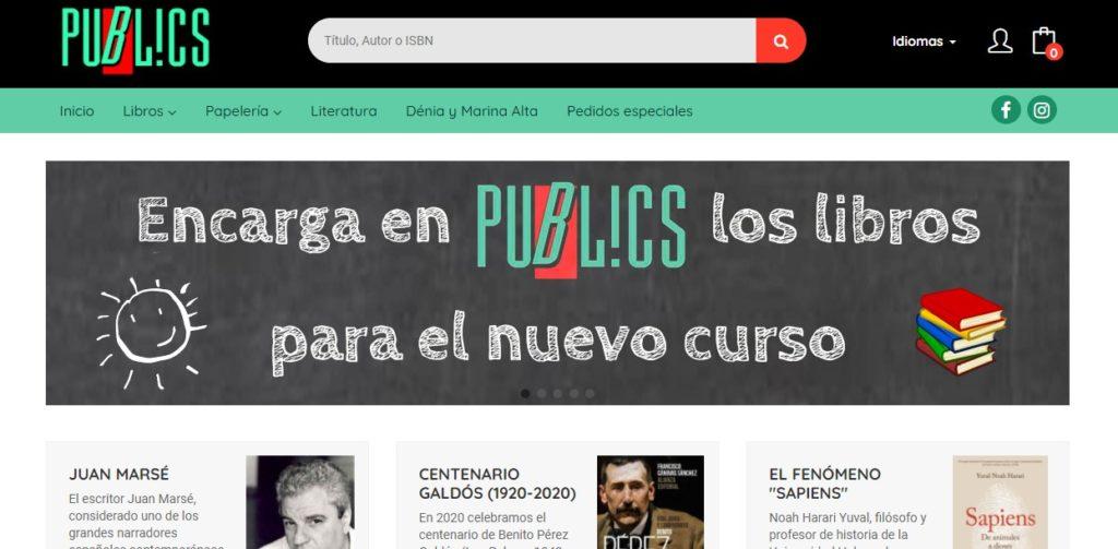 Nueva web de la Librería Publics