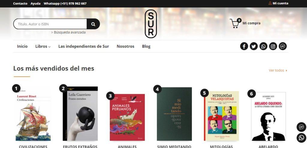 Nueva web de la Librería Sur