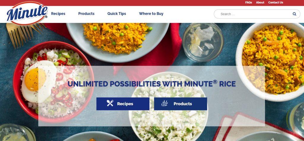Nueva web de Minute Rice