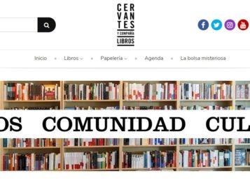 Nueva web de la Librería Cervantes y compañía