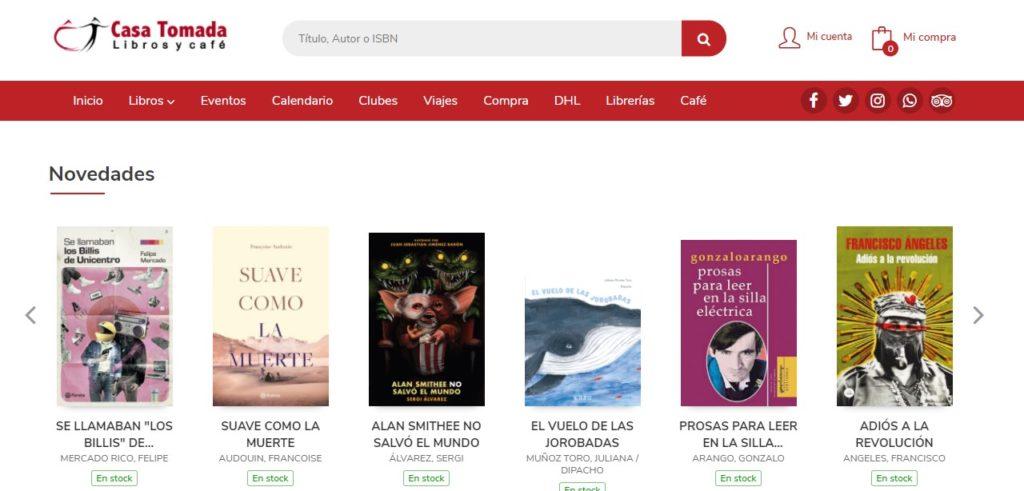 Nueva web de la Librería Casa Tomada
