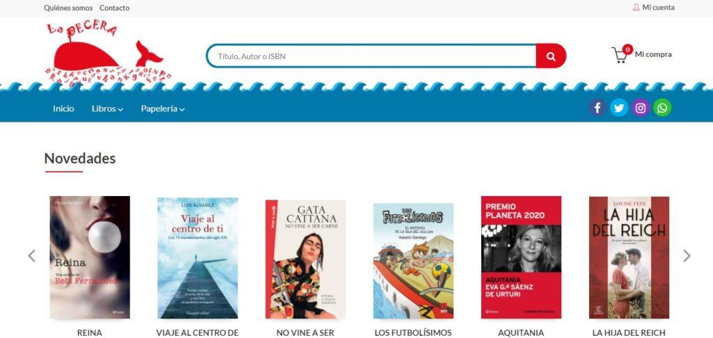 Nueva web de la Librería La Pecera