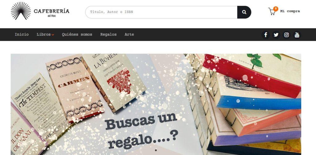 Nueva web de Cafebrería ad Hoc