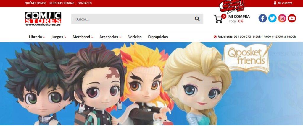 Nueva web de Comic Stores