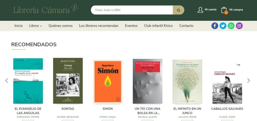 Nueva web de Librería Cámara