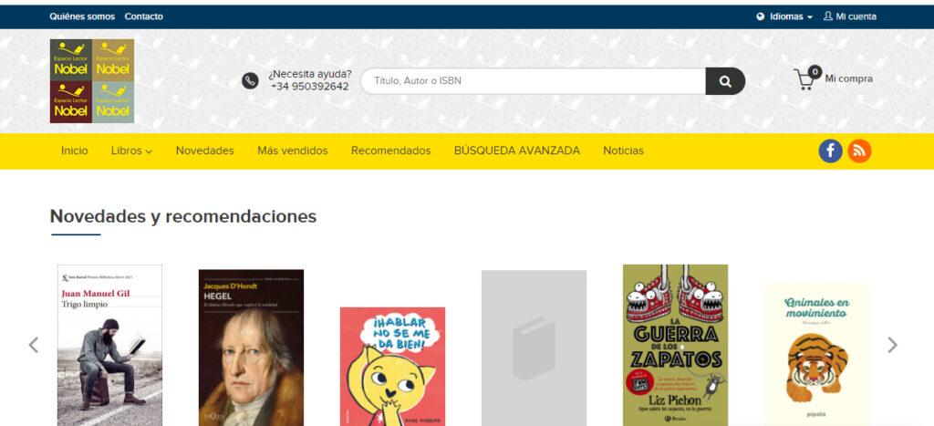 Nueva web de Espacio Lector Nobel