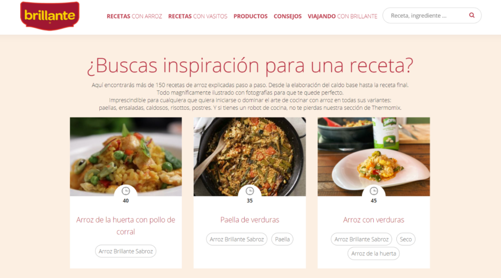 Web Arroz Brillante