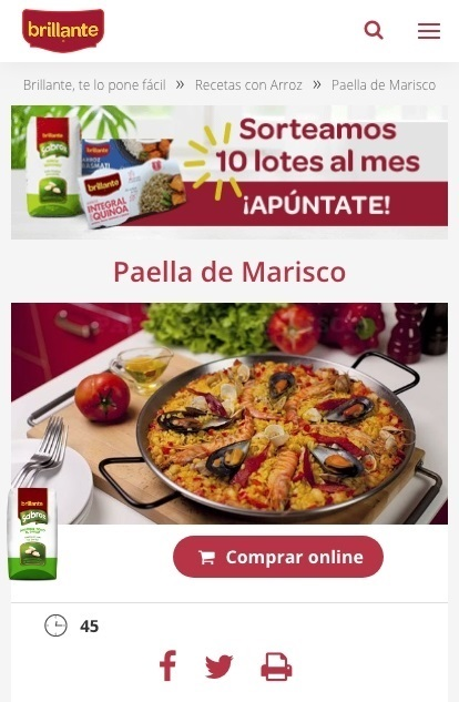 Web Responsive de Arroz Brillante