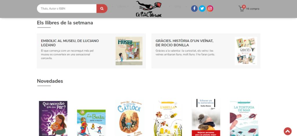 Nueva web de El Petit Tresor