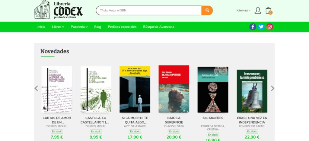 Nueva web de Librería Códex