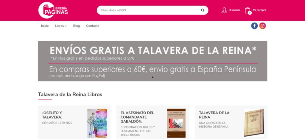 Nueva web de Librería Páginas