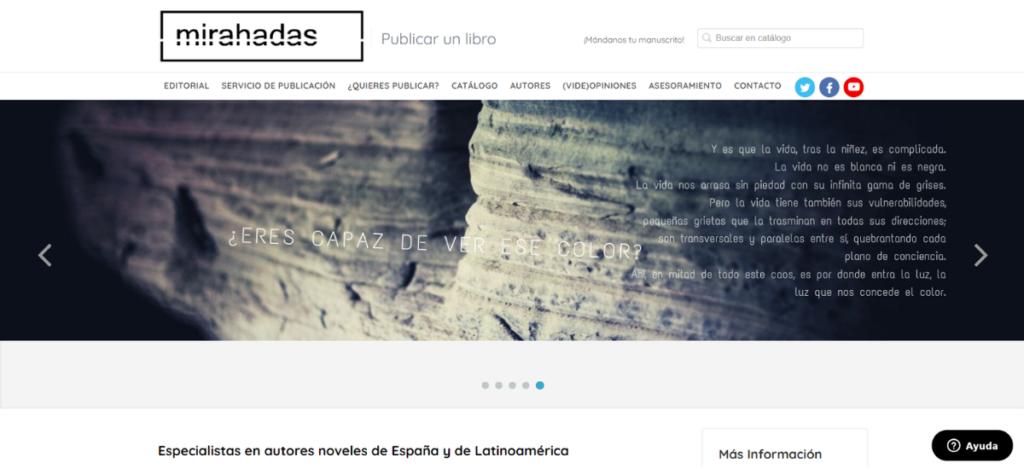 Nueva web de Editorial Mirahadas