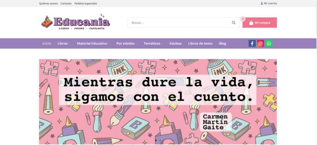 Nueva web de Educania