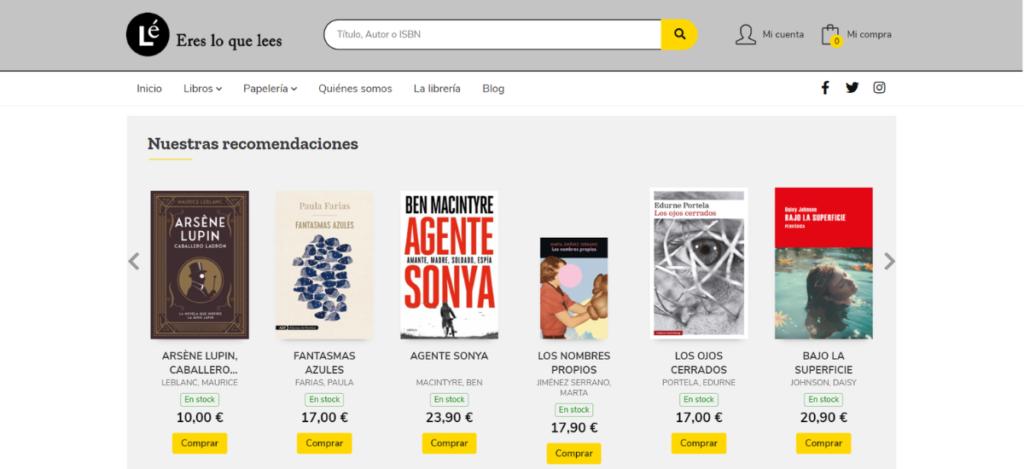 Nueva web de Librería Lé