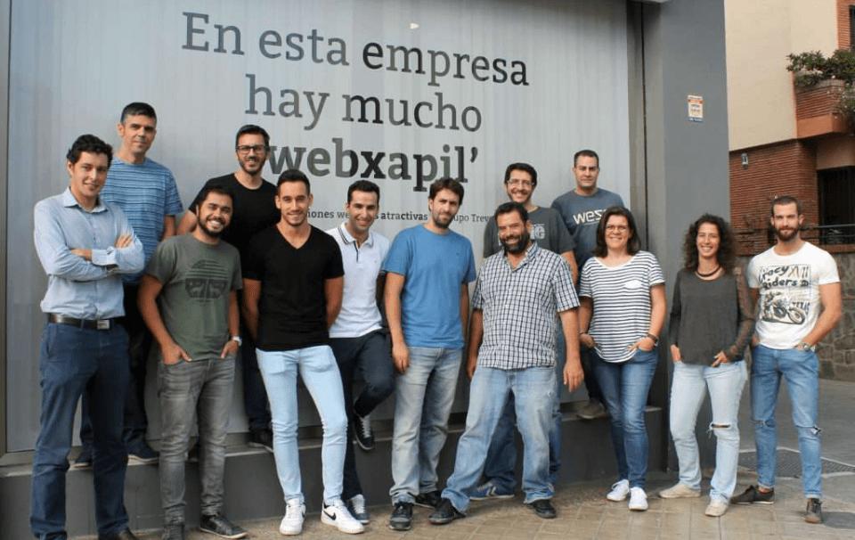 El equipo de Soluciones Web hace algunos años