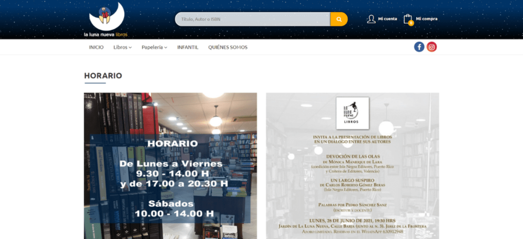 Web de La Luna Nueva