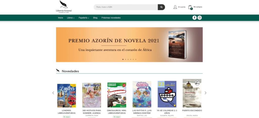 Web de Librería General de Ceuta