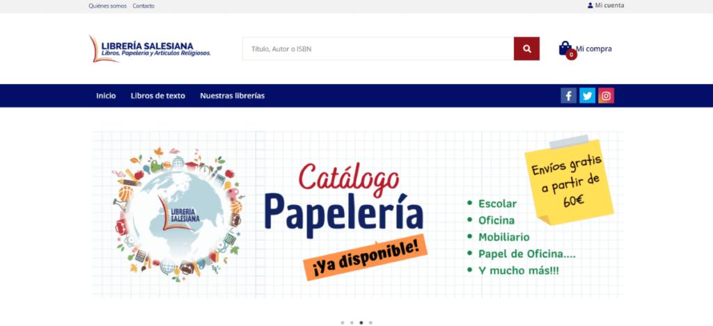 Nueva web de Librería Salesiana