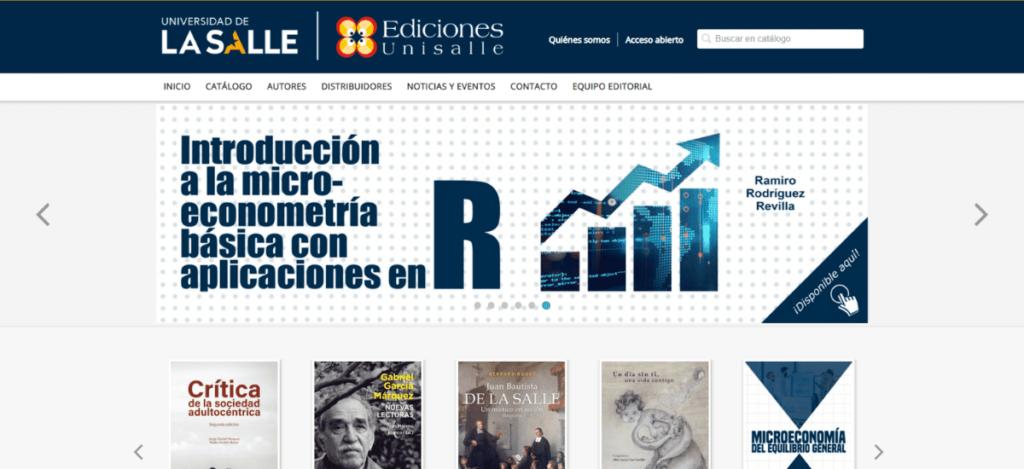 Web Ediciones Unisalle - Universidad La Salle
