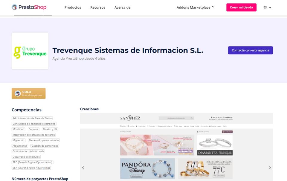 Grupo Trevenque Partner Oficial Prestashop