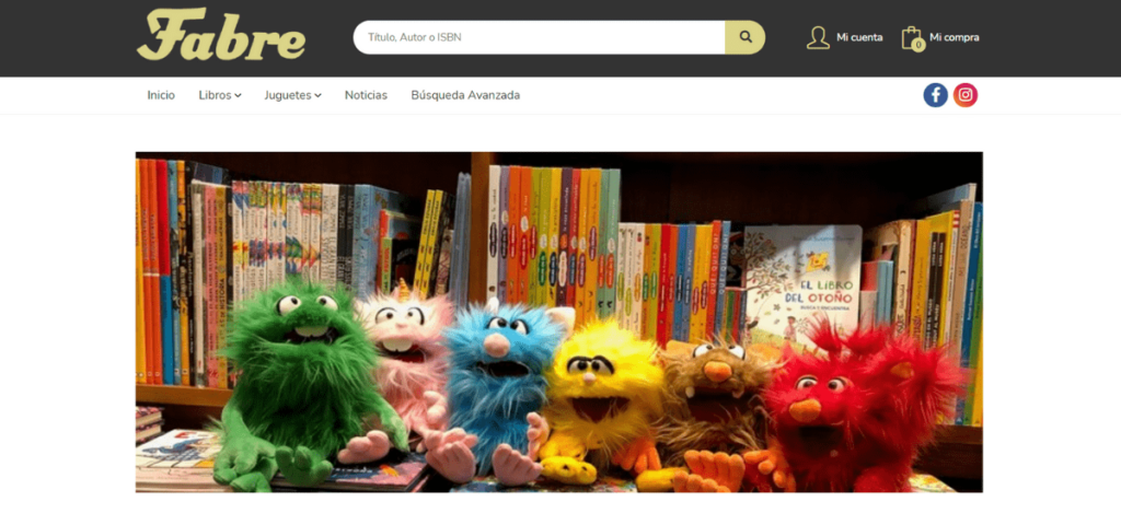 Web Librería Fabre