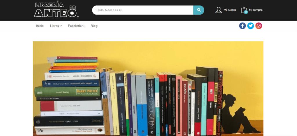 Web Librería Anteo