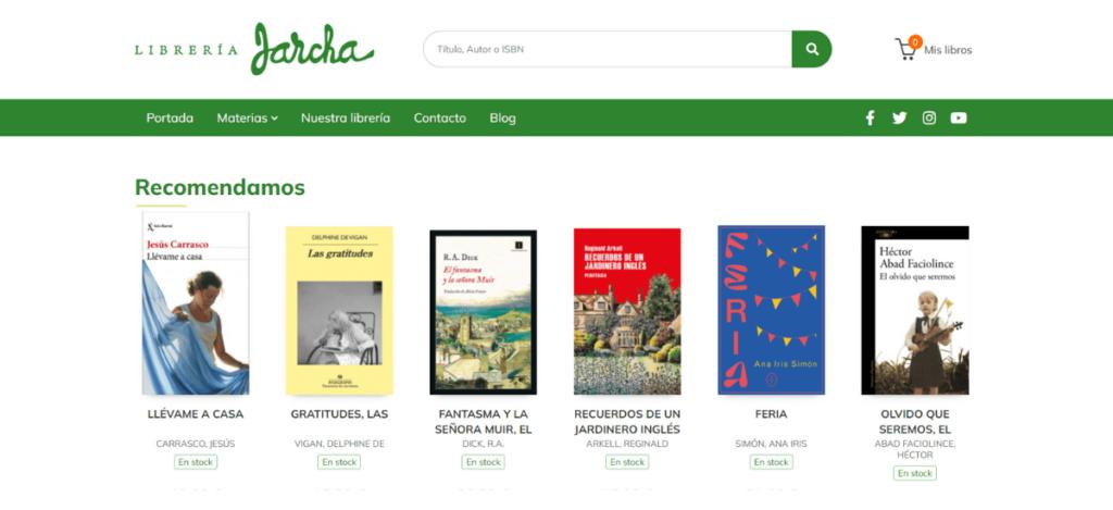 Web Librería Jarcha