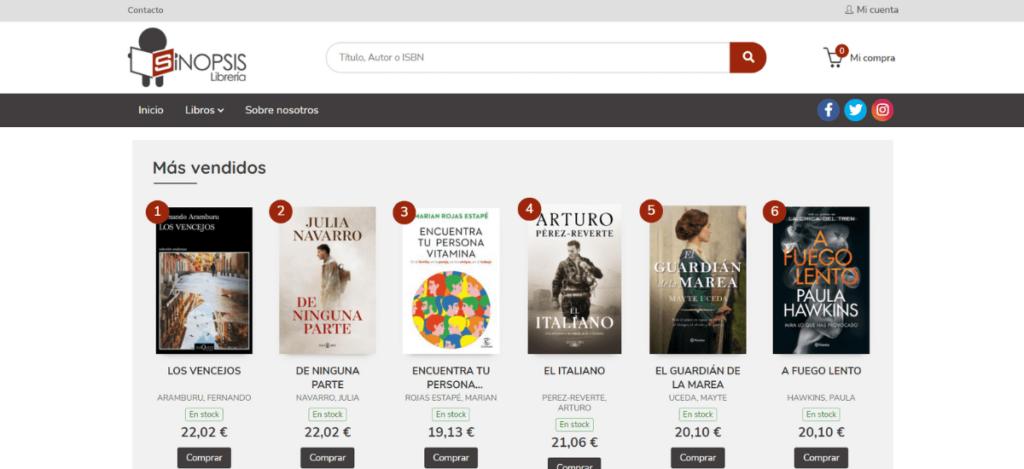 Web Librería Sinopsis