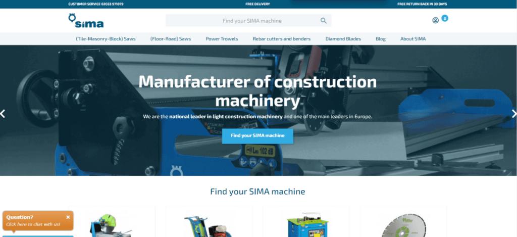 Ecommerce Sima UK